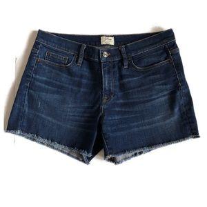 J CREW Denim Raw Edge Jean Shorts Size 8